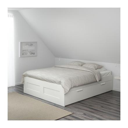 cadre de lit avec rangement