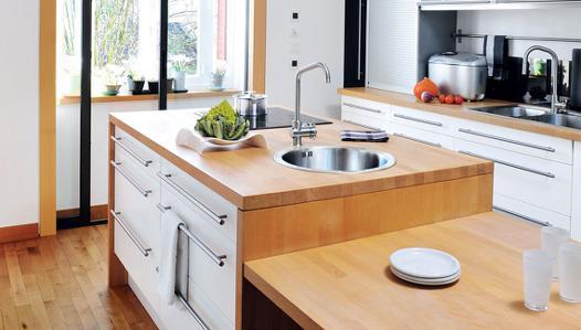 plan de travail cuisine bois