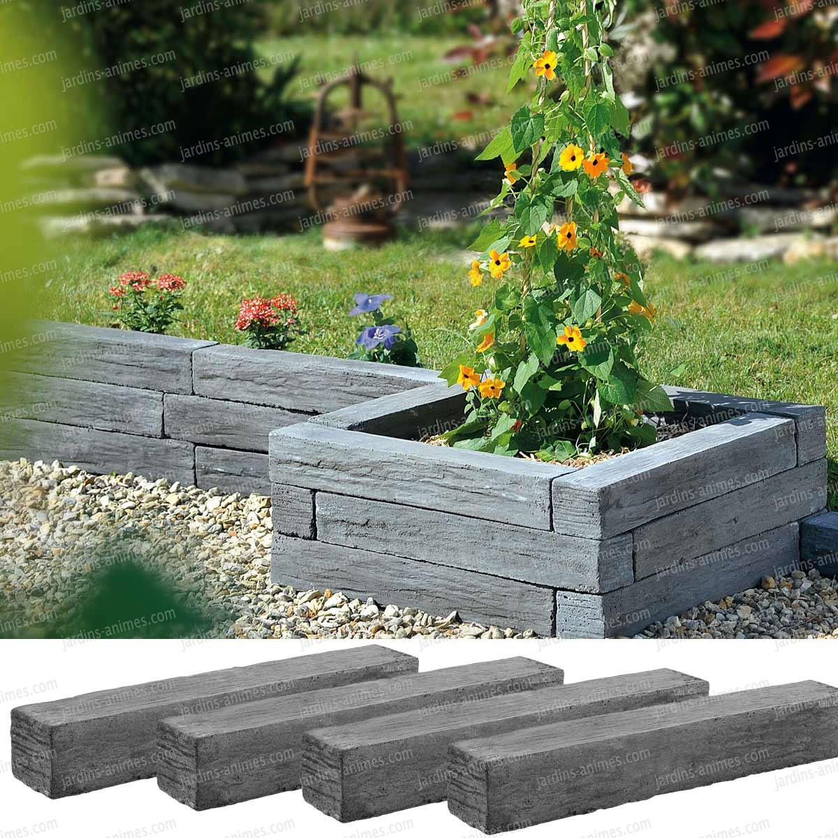 bordure jardin pierre