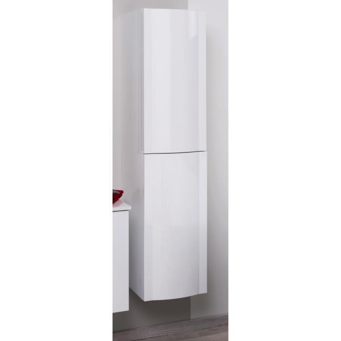 colonne salle de bain blanc laqué