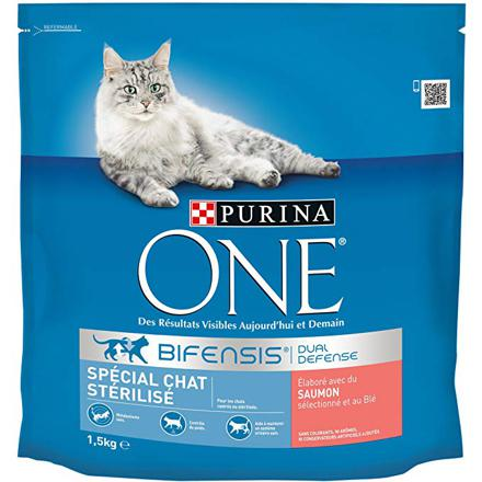 croquettes chat purina one