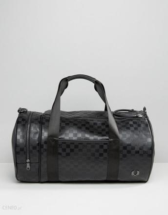 fred perry checkerboard barrel bag