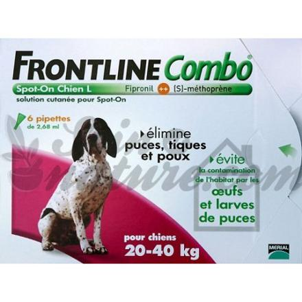 frontline combo chien 20 40kg 6 pipettes