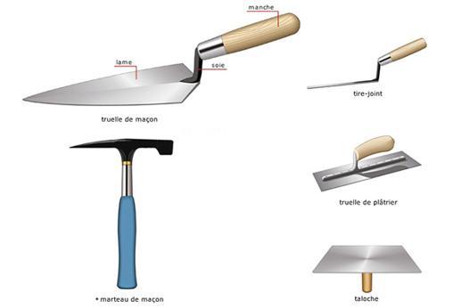 outil de maçon