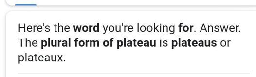plural of plateau