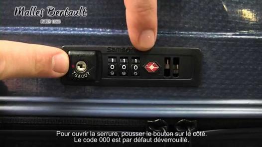 samsonite code valise