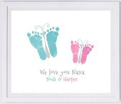peinture empreinte bébé